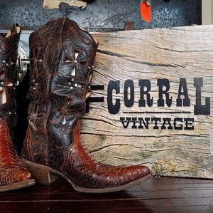 Corral Boots Musgo Python Cross